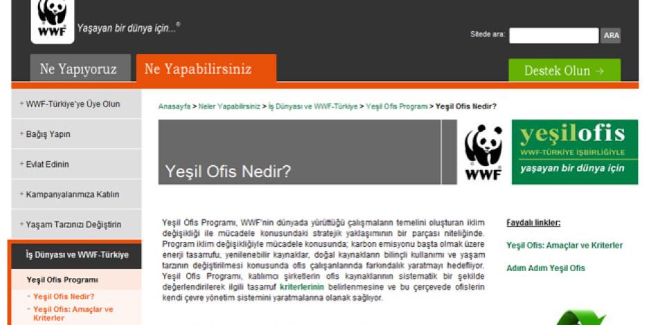 """WWF Türkiye'den """"Yeşil Ofis"""" Hareketi"""