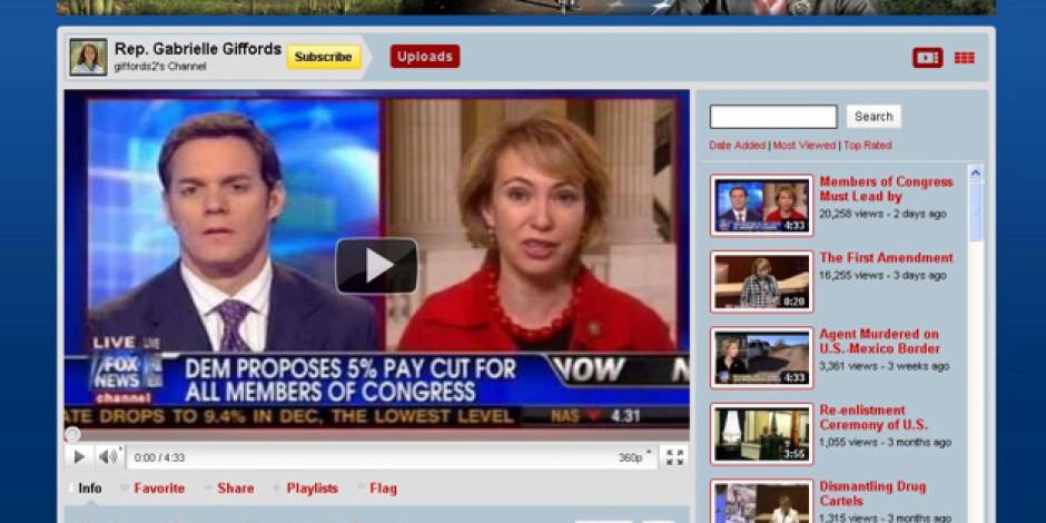Yaralanan Kongre Üyesi Giffords, Suikastçisine Youtube'da Üye Olmuş
