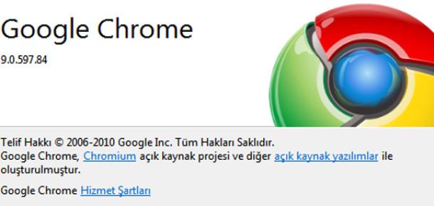 Google Chrome 9 Çıktı