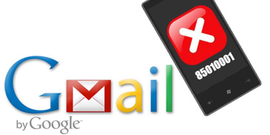 Gmail'de Geçici Hizmet Arızası