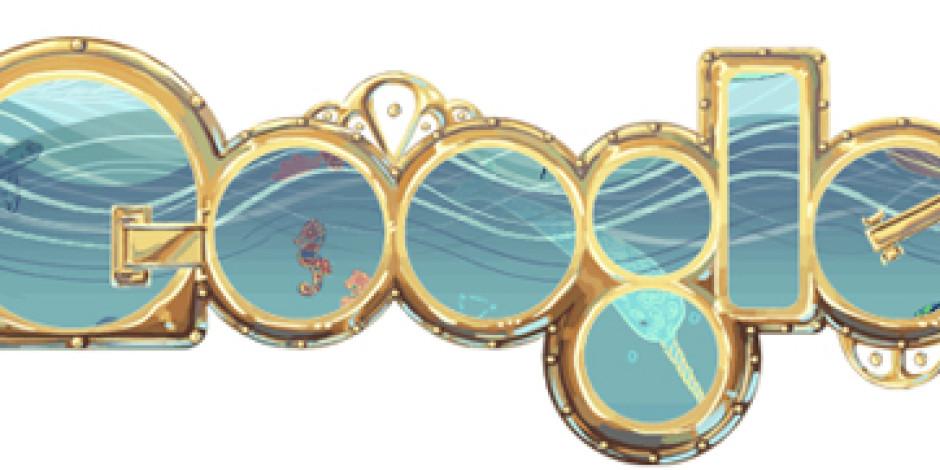 Google Doodle'dan Jules Verne Teması