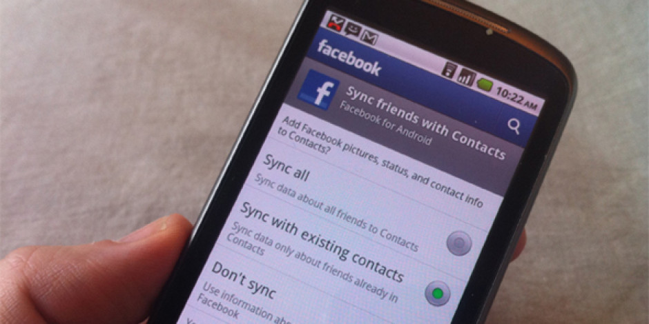 Google Yeni Telefonu Nexus S'te Facebook ile Senkronizasyona İzin Vermiyor