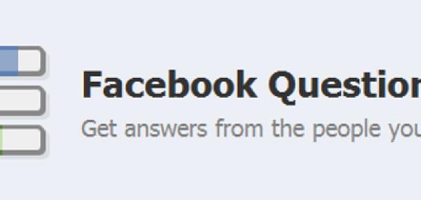 Facebook Questions Yeni Haliyle Yayında