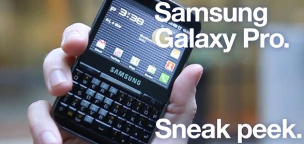 Samsung Galaxy Pro Geliyor