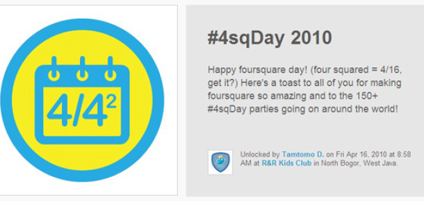 Foursquare Günü'nde 3 Milyon Check-In Yapıldı