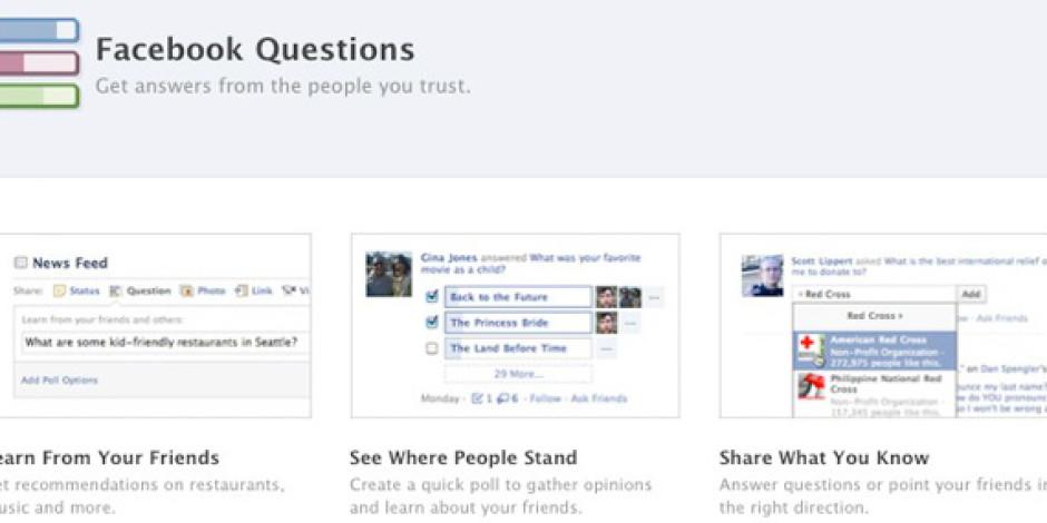 Facebook Questions Markalar İçin de Önemli