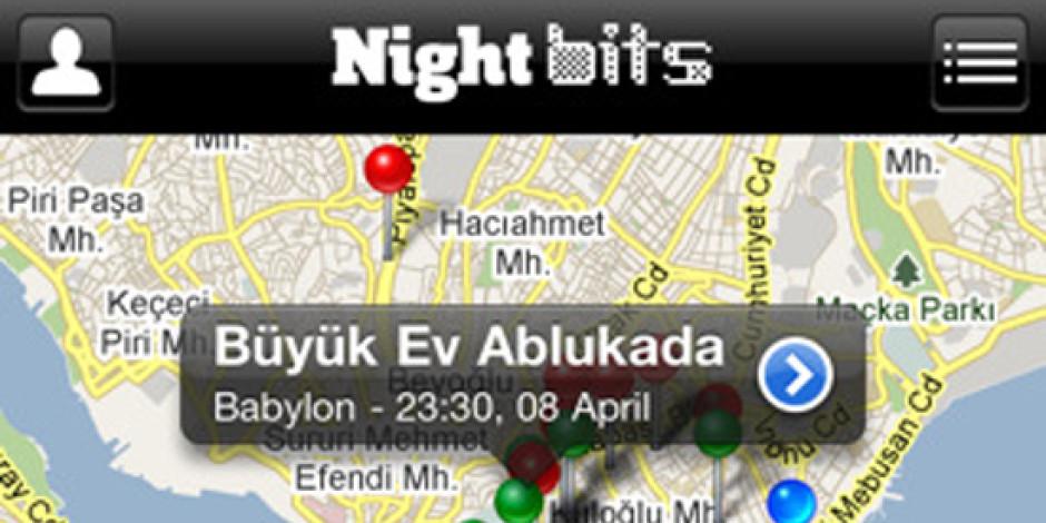 Nightbits, Facebook'taki Etkinlikleri Haritada Gösteren iPhone Uygulaması