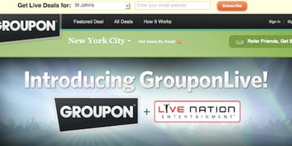 Groupon, Yeni Girişimi GrouponLive ile Bilet Satacak