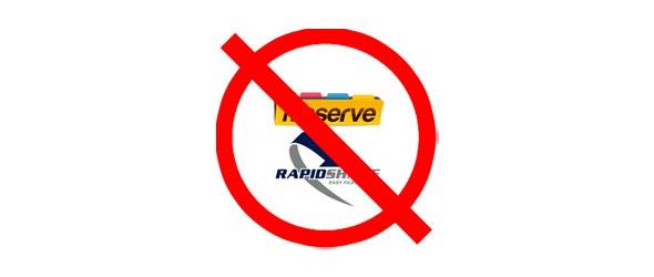 Rapidshare ve FileServe Yasaklandı