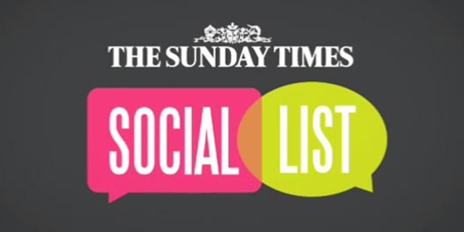 The Sunday Times'tan En Sosyaller Listesi