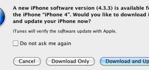 iOS 4.3.3 Güncellemesi Geldi, İzleme Bitti
