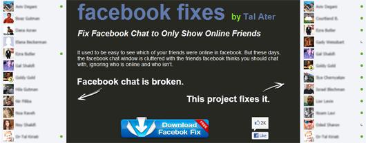 Facebook Chat'i Eski Haline Getirmek Tal-Ater