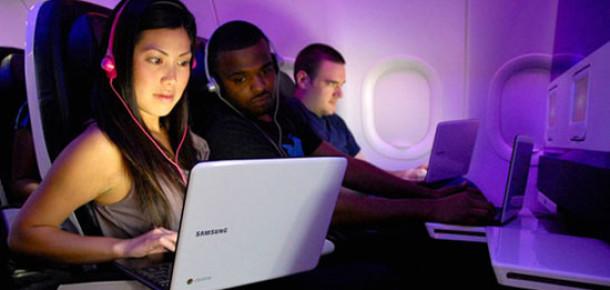 Chromebook'tan Uçuşlarda Ücretsiz İnternet