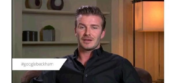 David Beckham ile Google+'ta  Canlı Sohbet