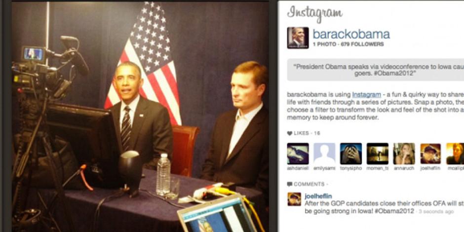 Amerikan Başkanı Barack Obama Instagram'a Katıldı