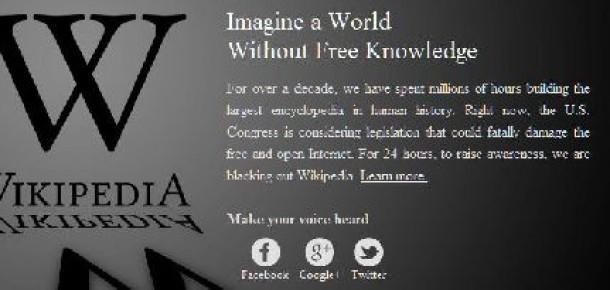 SOPA'ya Karşı İnternet Devleri Ekranlarını Kararttı