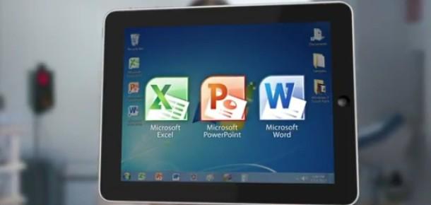 OnLive Desktop, Microsoft Office'i iPad'e Getiriyor