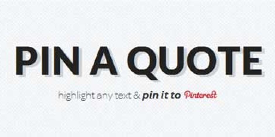 Pin A Quote: Beğendiğiniz Sözleri Pinterest Görseline Çevirin