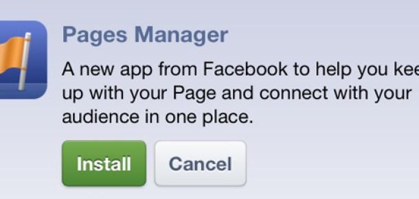 Facebook'tan Sayfa Yöneticilerine Yönelik Mobil Uygulama
