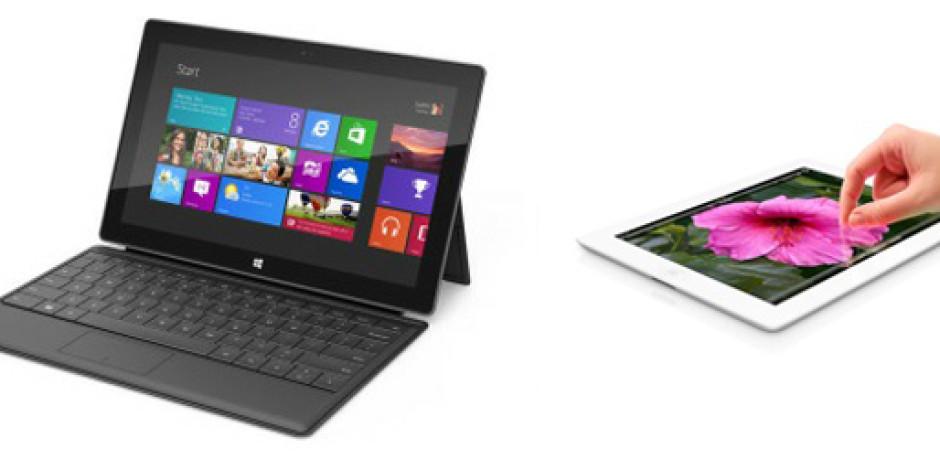 Microsoft Surface vs. Yeni iPad
