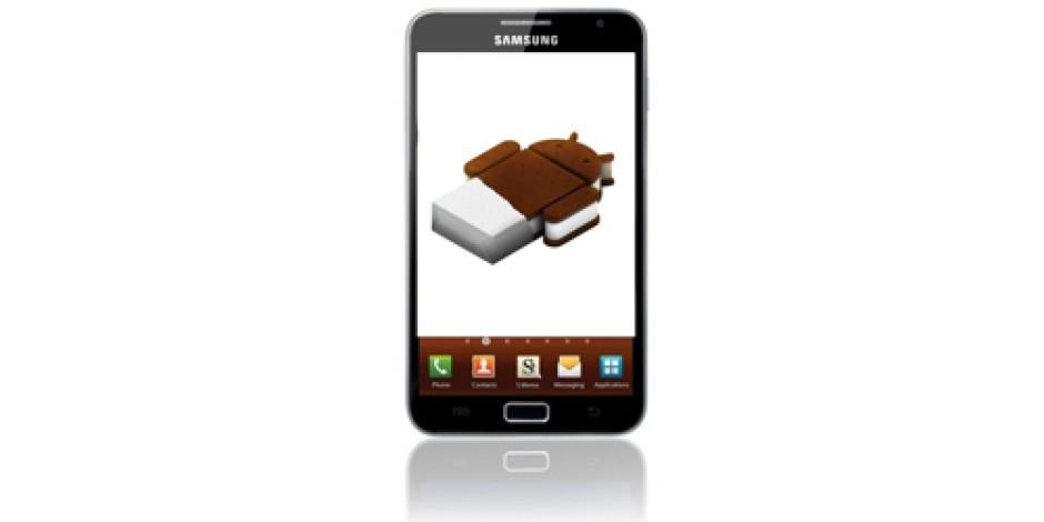 Galaxy Note'a Ice Cream Sandwich Güncellemesi