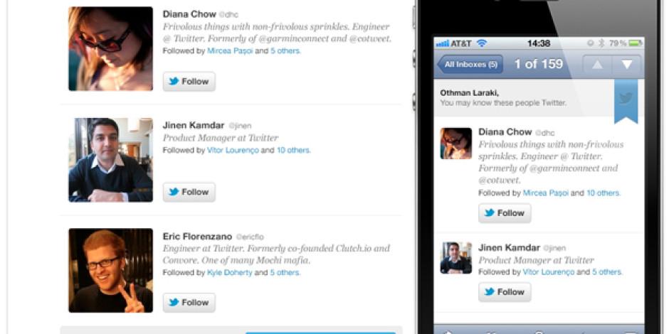 Twitter 'Tanıyor Olabileceğiniz Kişiler'i Artık E-Posta Yoluyla Bildirecek