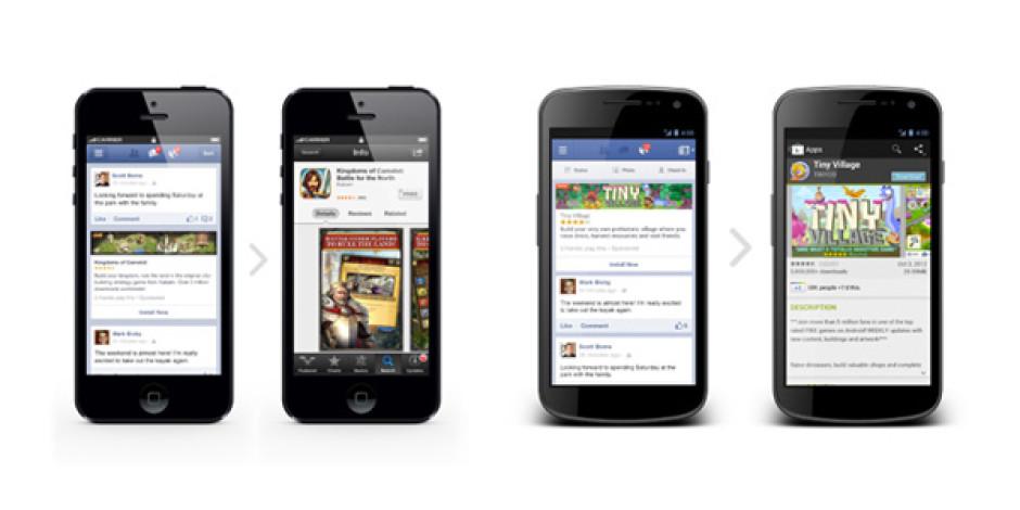 Facebook'tan Mobil Uygulamalar İçin Yeni Reklam Modeli