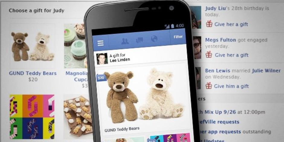 Facebook'un Sosyal Alışveriş Platformu Gifts Büyüyor
