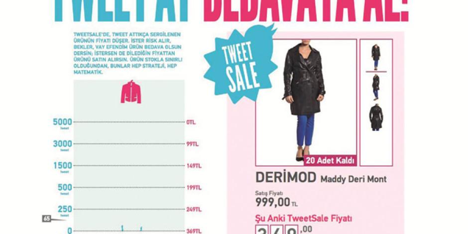 1V1Y'nin TweetSale Uygulaması ile Her Hafta Bir Ürünün Fiyatını Takipçiler Belirliyor