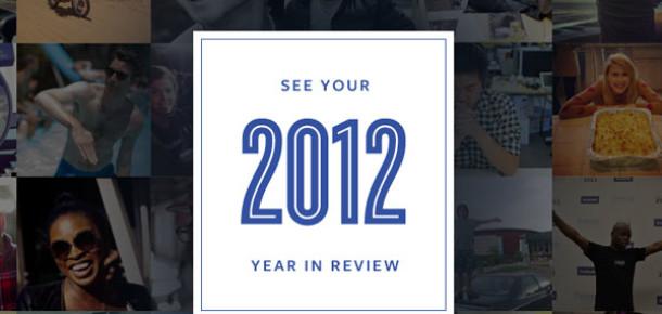 Facebook Kullanıcılarına 2012'nin En Önemli Anlarını Sunuyor