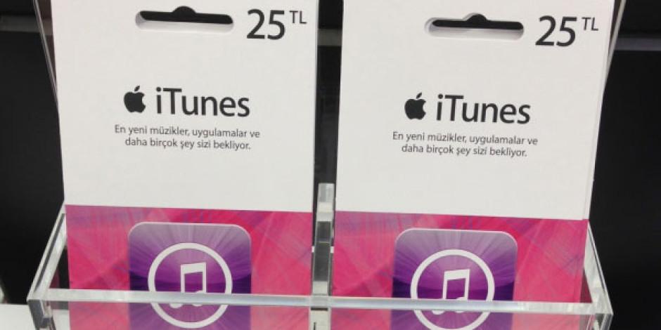 iTunes Hediye Kartları Türkiye'de