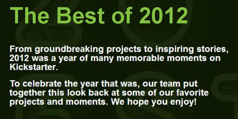 Kickstarter'ın 2012 Karnesi