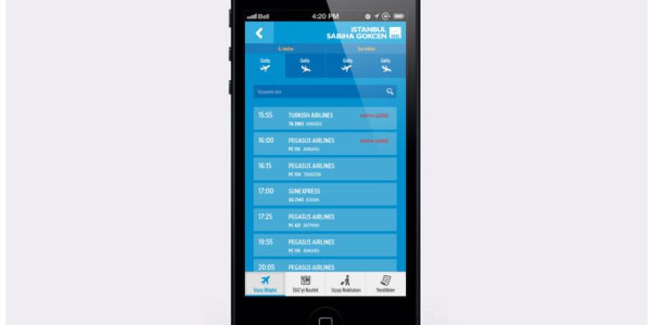 Sabiha Gökçen Havalimanı'nda Kaybolmak İstemeyenler için iPhone Uygulaması