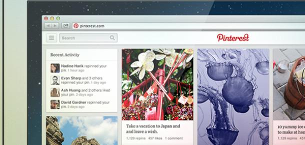 Pinterest Yeni Tasarımını Test Ediyor