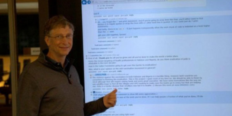 Bill Gates'in 82 İnçlik Dev Tableti