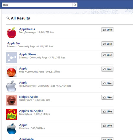 Facebook Apple Araması