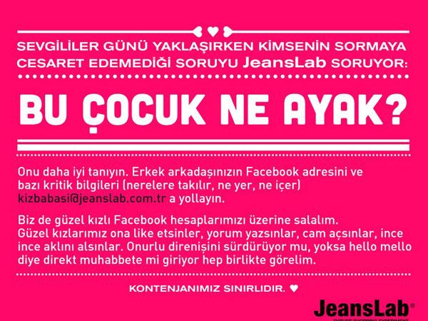 JeansLab'den Ucu Nereye Gideceği Belli Olmayan Sevgililer Günü Kampanyası