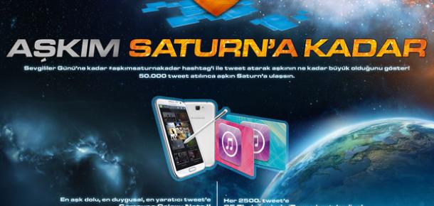 Saturn, Sevgililer Günü Kampanyasında Aşk Mesajlarını Saturn'e Gönderiyor