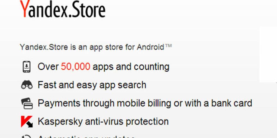 Yandex'ten Android'li Cihazlar İçin Uygulama Mağazası: Yandex.Store