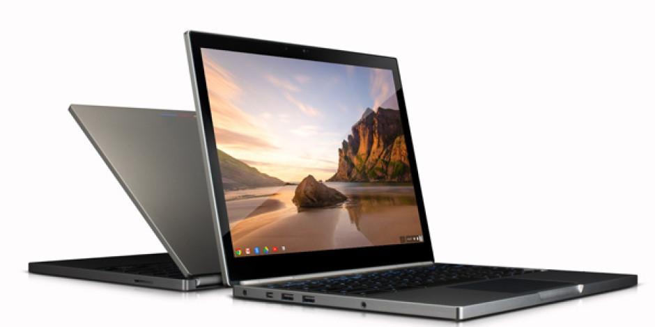 Google Dokunmatik Ekranlı Dizüstü Bilgisayarı Chromebook Pixel'i Tanıttı