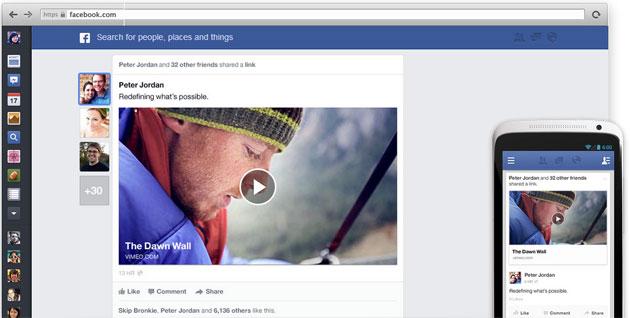 Facebook Yeni Ana Sayfa Tasarımı