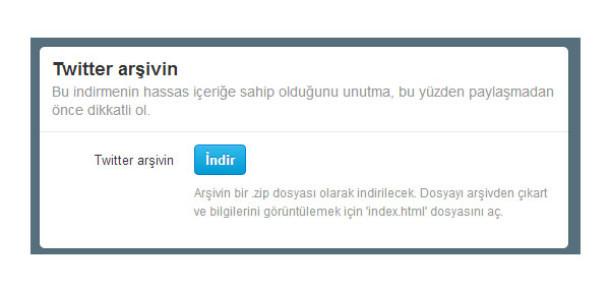 Twitter Türkçe İçin Tweet Arşivini İndirme Özelliğini Açtı