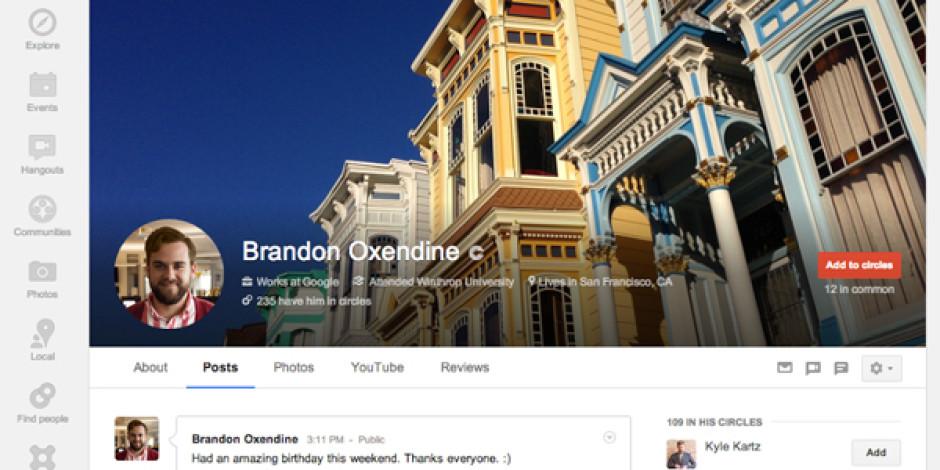 Google+ Kullanıcı Arayüzünde Değişikliğe Gitti