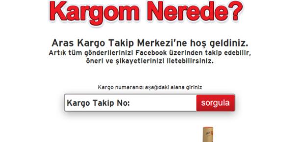 Aras Kargo'dan Facebook'ta Kargo Takibi Uygulaması