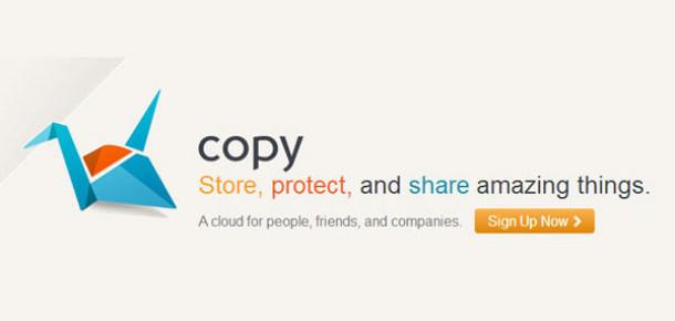 Copy: Her Arkadaş İçin 5 GB Alan Veren Bulut Depolama Servisi