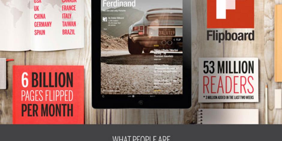 Flipboard'da İki Haftada 500 Bin Dergi Yayınlandı