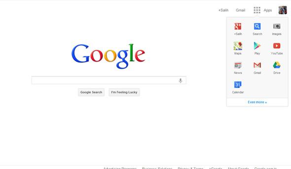 Google Yeni Ana sayfa