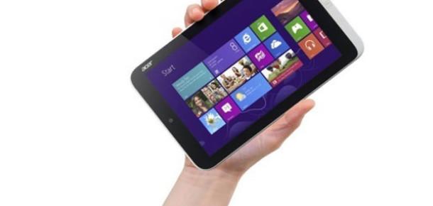Dünyanın İlk Küçük Ekranlı Windows 8'li Tableti Acer'dan