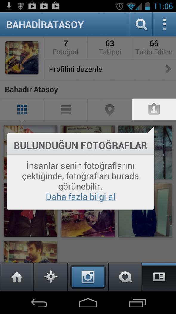 Instagram Bulunduğunuz Fotoğraflar