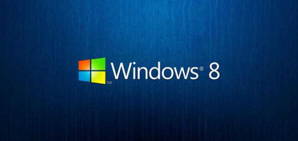 Windows 8 Yavaş ve Derinden İlerliyor